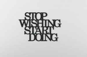 STOP wishing START doing - napis 3d na ścianę