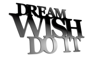 Dream wish do it - napisy 3d na ścianę
