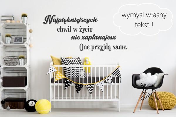 Wspaniały Napisy na ścianę - Twój dowolny tekst - Manufaktura Moderat KF57