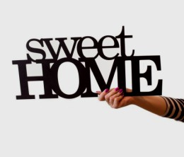 sweet home napis z plyty hdf