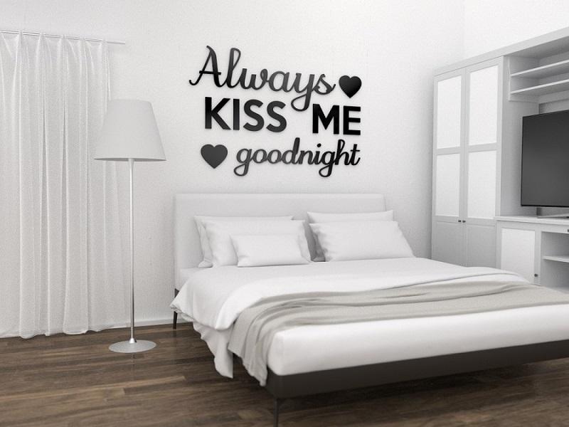 Always Kiss Me Goodnight Napisy Na ścianę