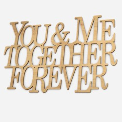 you and me forever together napis 3d na ścianę